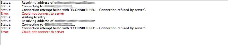 Làm thế nào để sửa lỗi ECONNREFUSED – Connection Refused By Server Error trong FileZilla