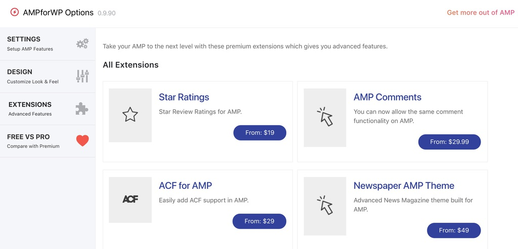 Extension AMP for WP