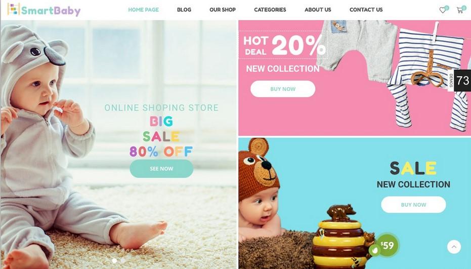 SmartBaby WooCommerce theme