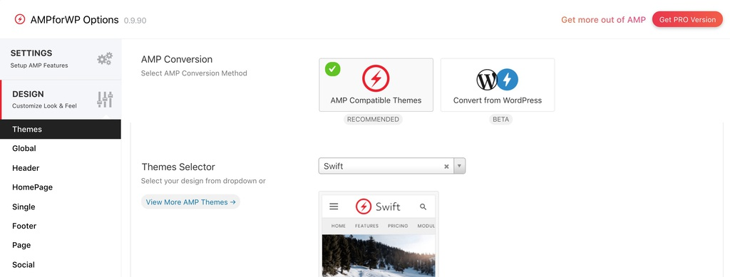 Theme cho AMP for WP