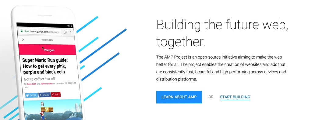 Trang chủ Google AMP