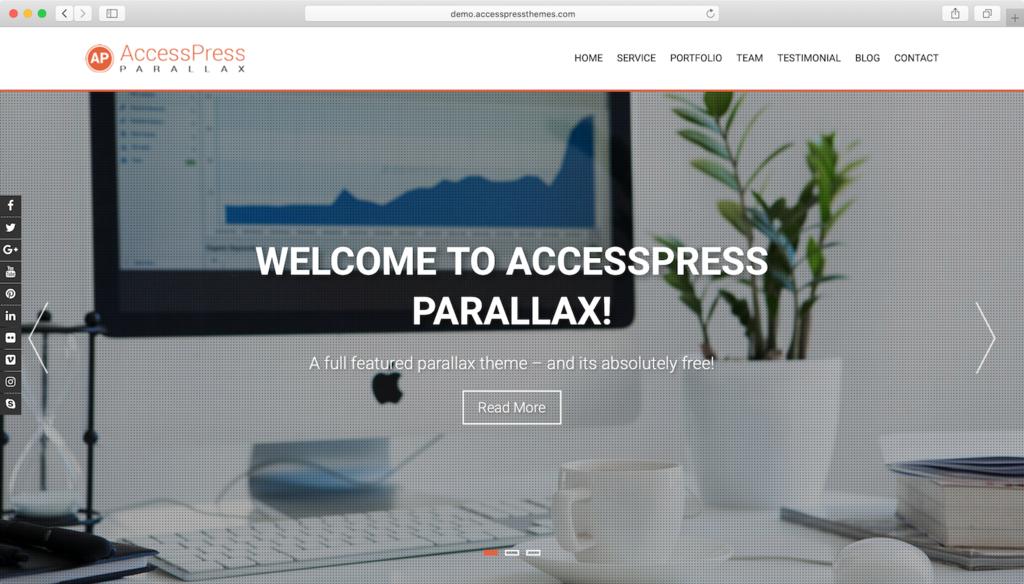 AccessPress Parallax WordPress theme.