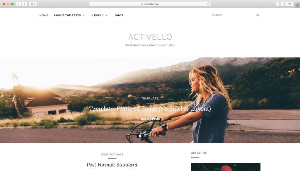 Activello WordPress theme.