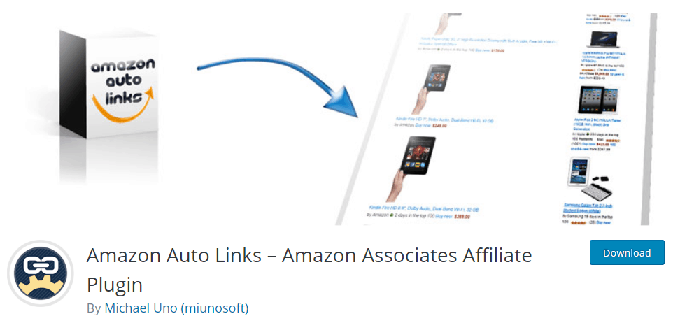Amazon Auto Links WordPress plugin Affiliate