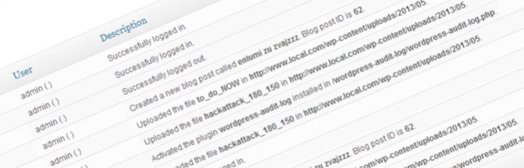 ảnh chụp WP audit security log