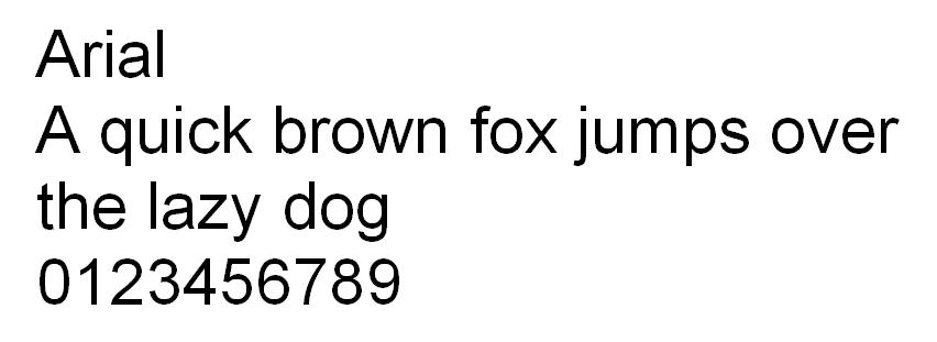 safe web font arial - font an toàn
