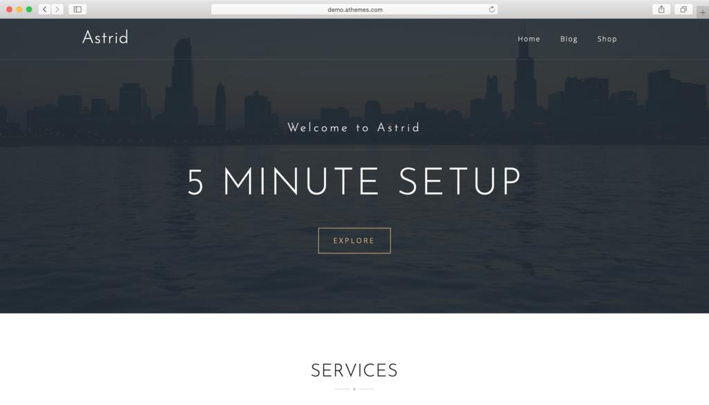 WordPress theme miễn phí Astrid