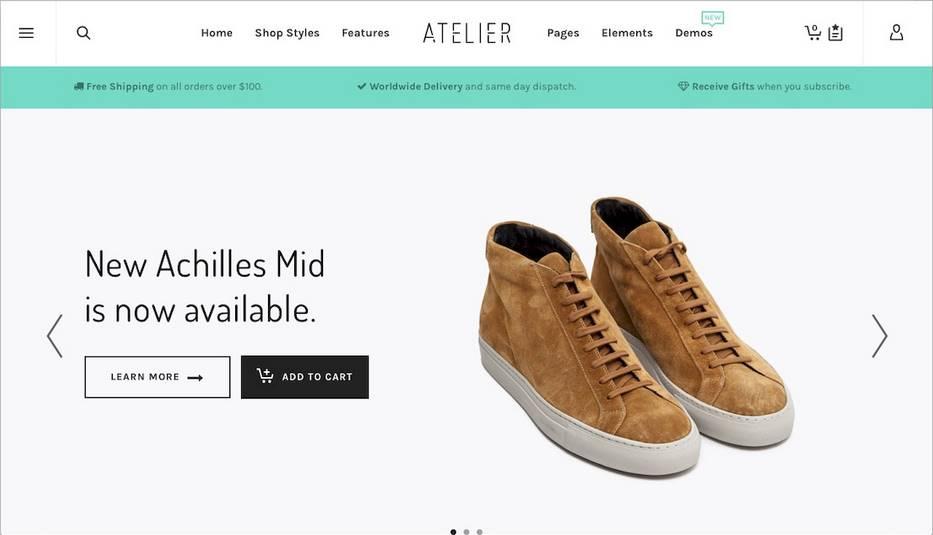 Aterlier woocommerce theme WordPress