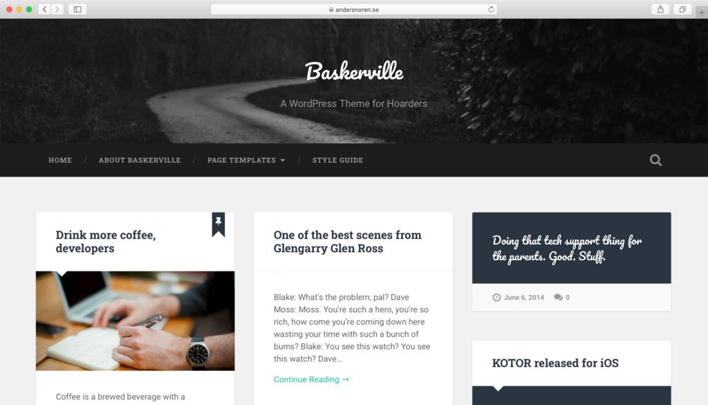 Theme WordPress miễn phí Baskerville