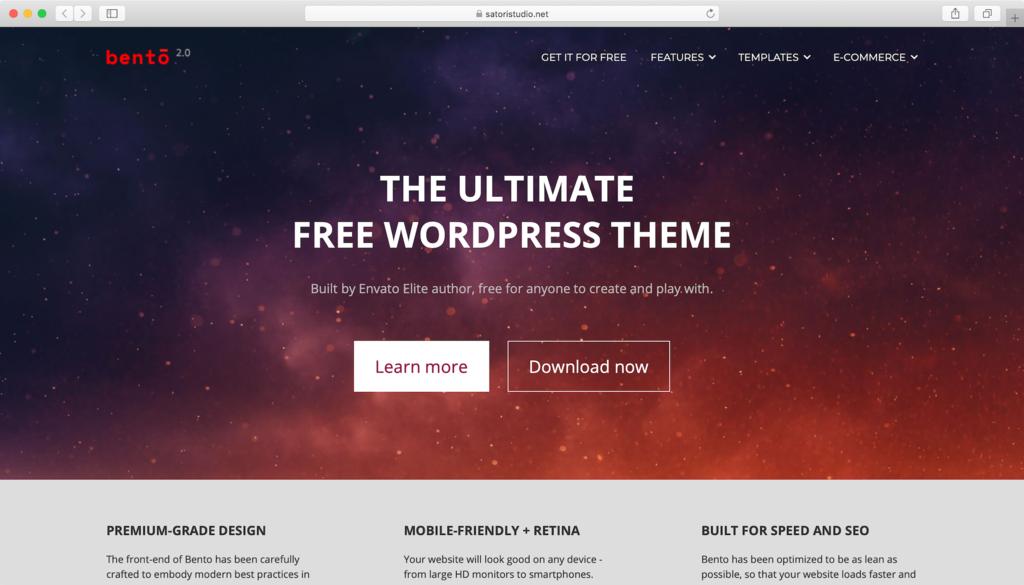 Bento WordPress theme free