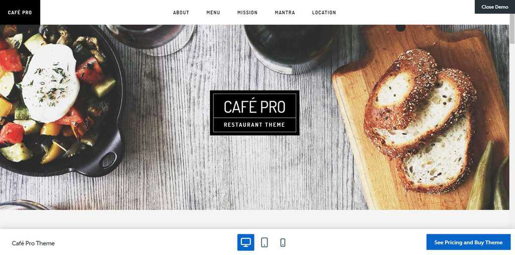 cafe pro genesis theme