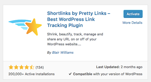 cài đặt pretty links