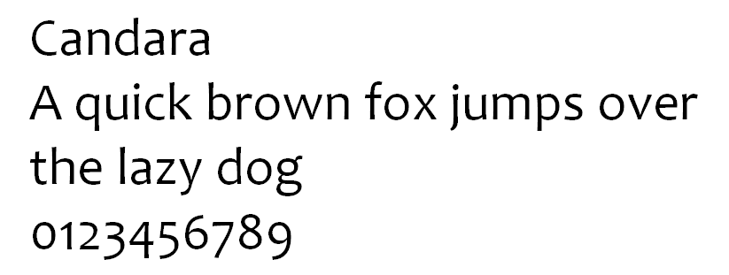 Candara typeface web font