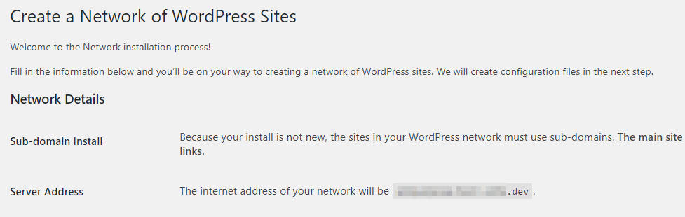 Cấu hình network wordpress multisite