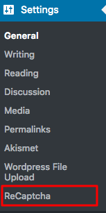 cấu hình recaptcha integration WordPress