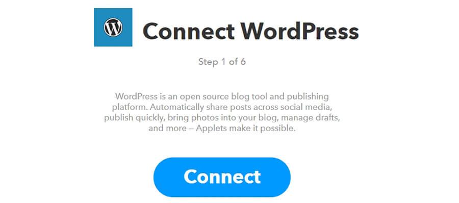 kết nối WordPress