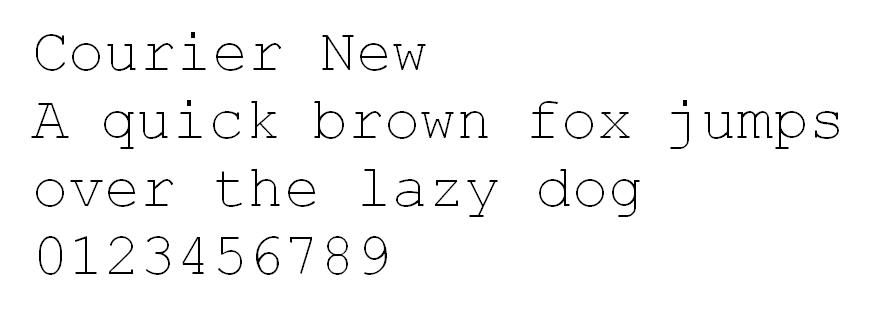 Courier New safe font