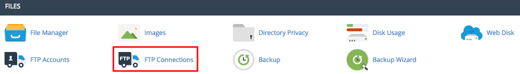 cPanel FTP Connections Section