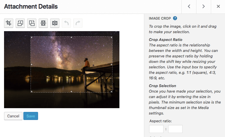 crop ảnh WordPress