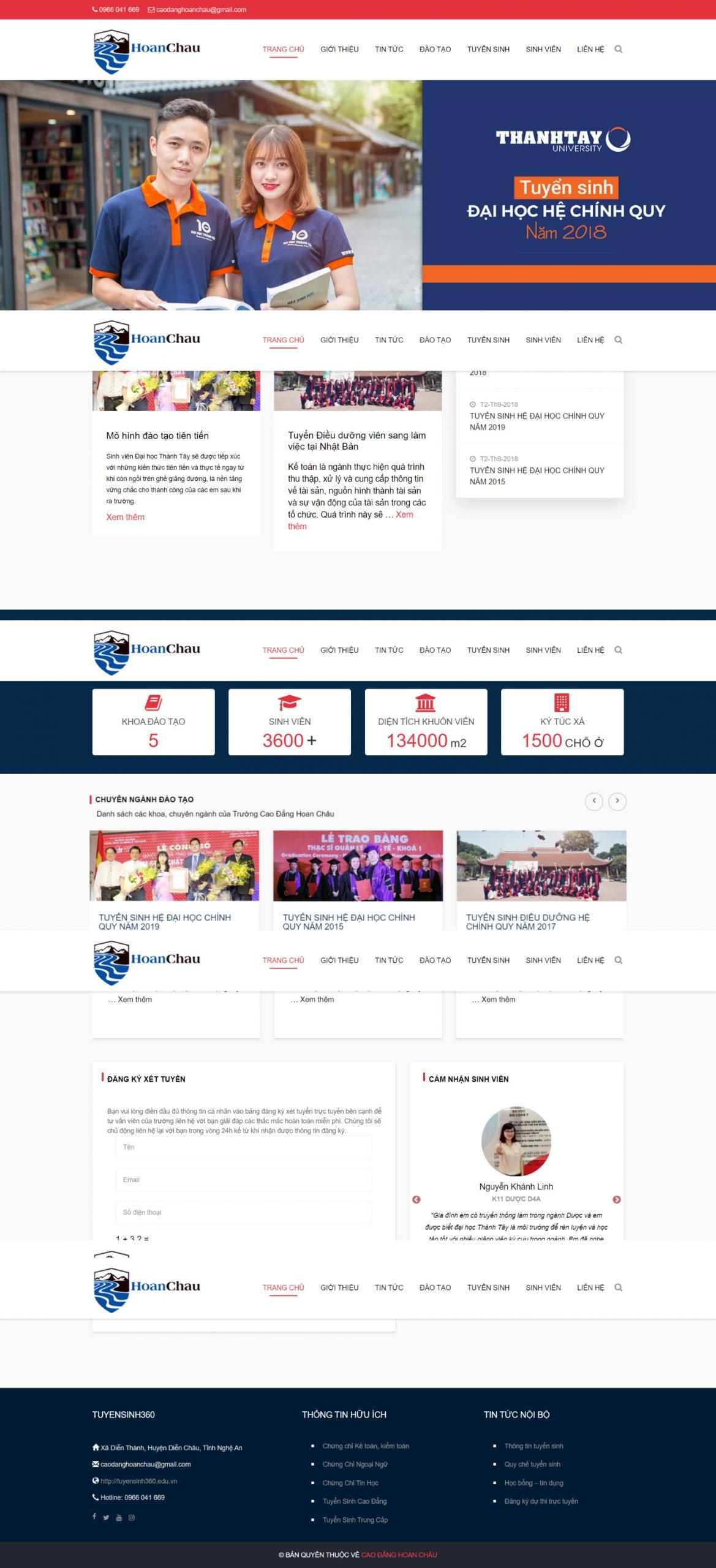 Website Đại Học Thành Tây