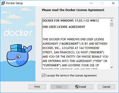 Cài Docker trên Windows 10