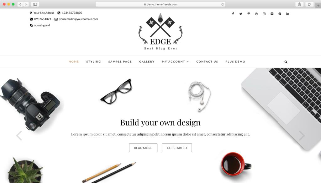 WordPress theme Edge