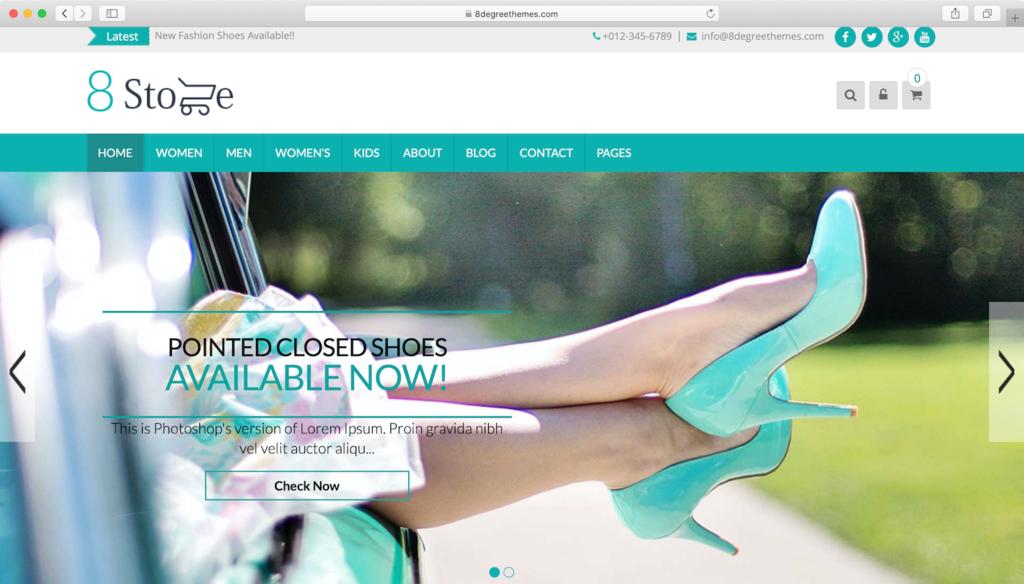 WordPress theme free EightStore Lite