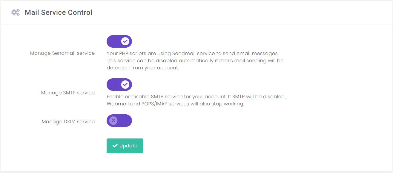 kích hoạt dịch vụ gửi email sendmail