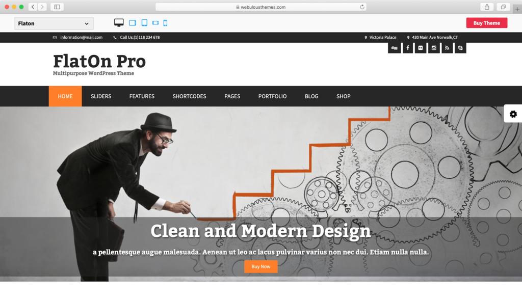 Theme WordPress Free FlatOn