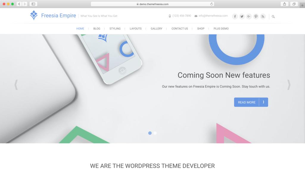 WordPress Theme Responsvie Freesia Empire