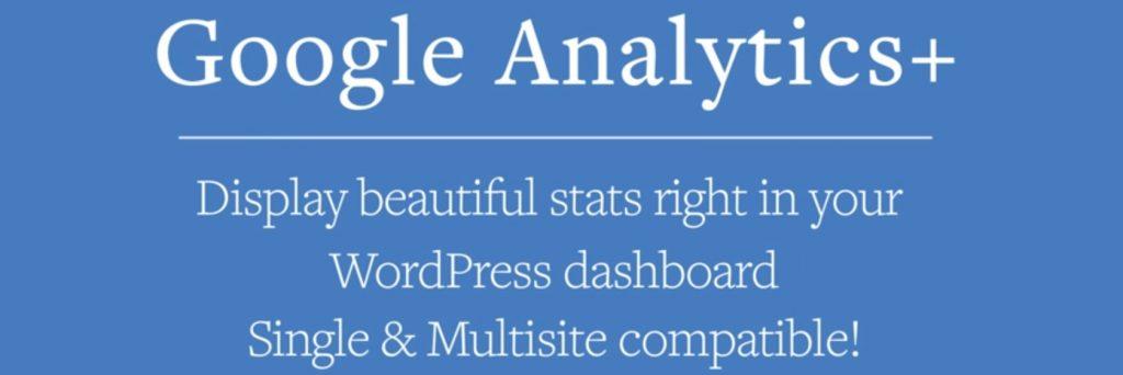 Google Analytics + WordPress plugin