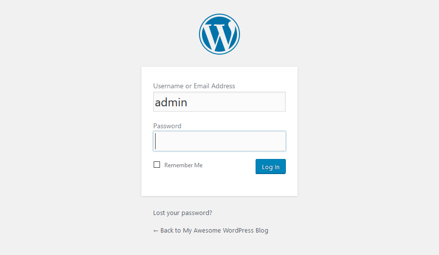 Đăng nhập vào WordPress Dashboard