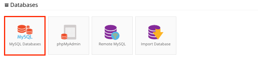 Access MySQL Databases