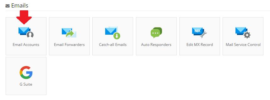 Khu vực email Hostinger