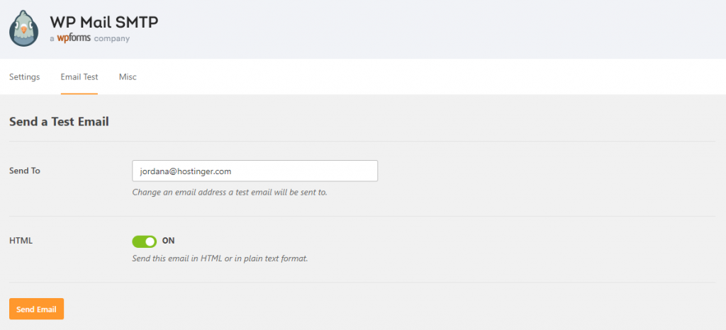 Kiểm thử gửi mail bằng WP Mail SMTP Email Test
