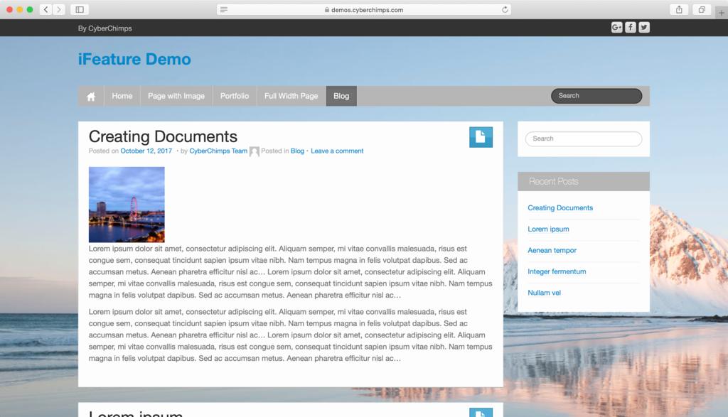 theme WordPress miễn phí - iFeature