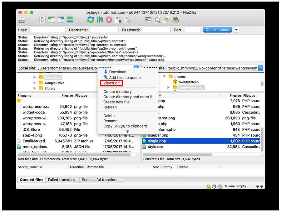 sua file syntax error