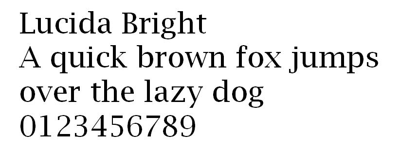 Lucida Bright font web