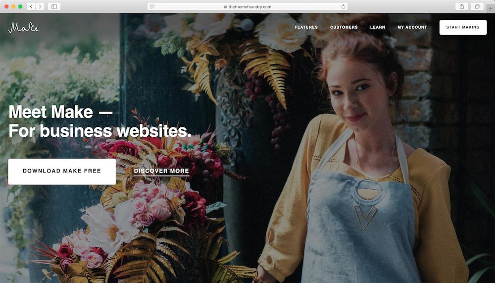 WordPress theme free responsive Make