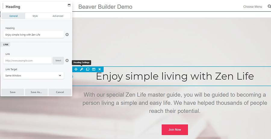 mẫu website builder