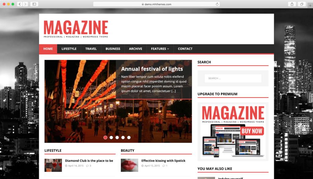 theme wordpress tạp chí miễn phí - MH Magazine Lite
