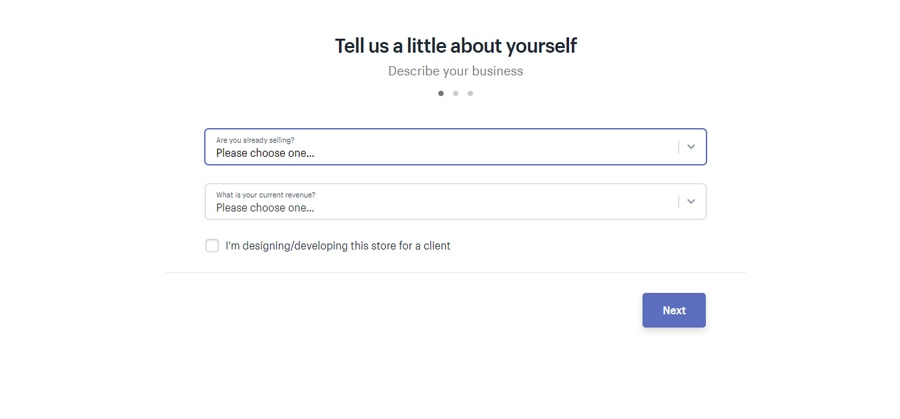 Mô tả công việc kinh doanh shopify