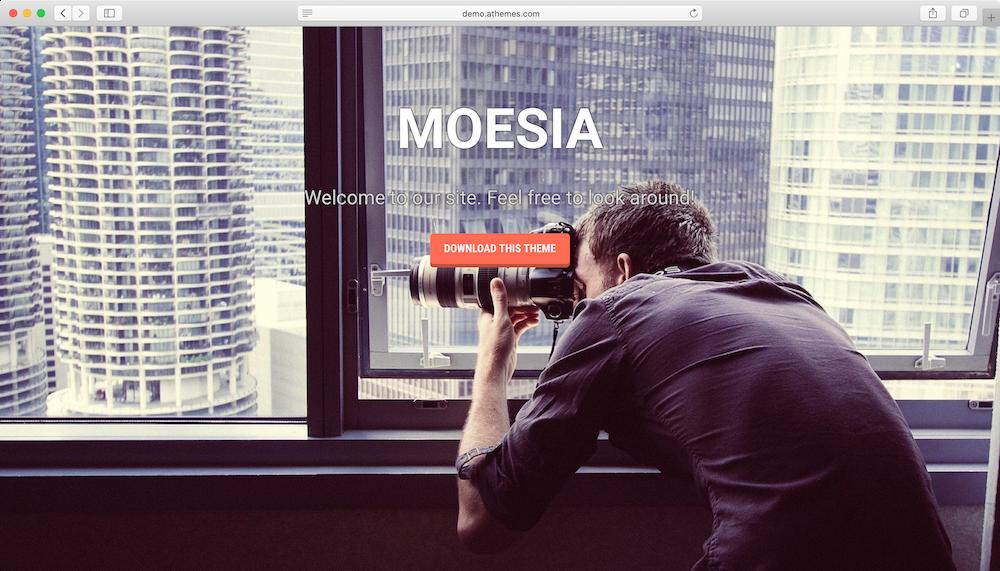 theme WordPress free Moesia Responsive