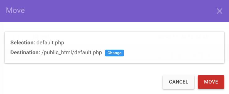 chuyển files tới public_html