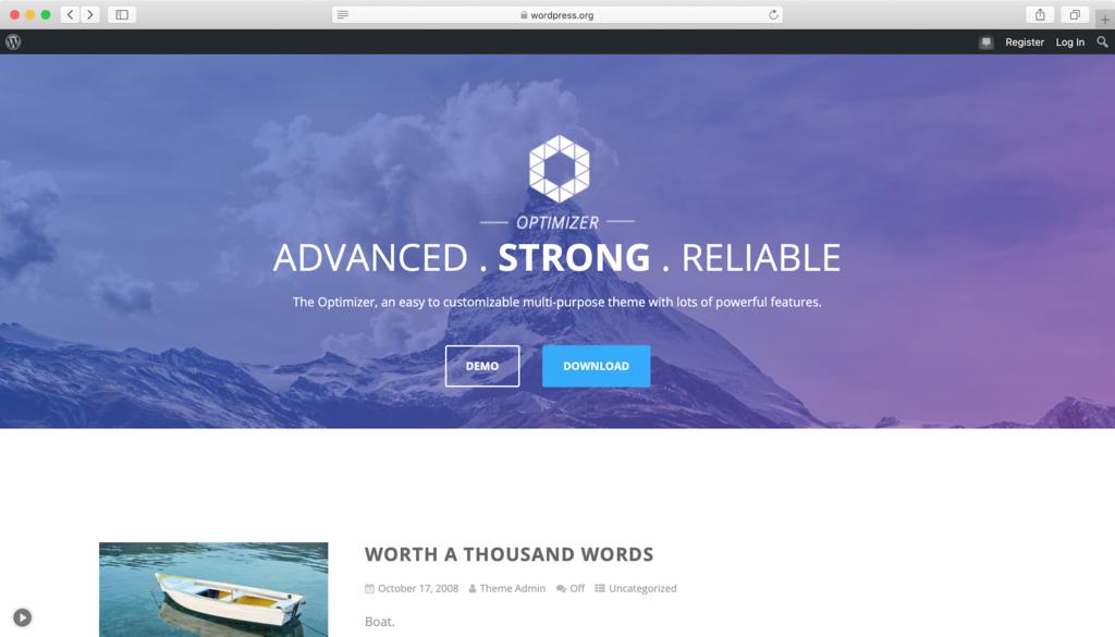 theme wordpress free responsive - Optimizer
