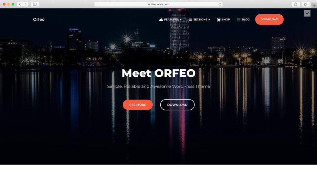 Theme WordPress Free Orfeo