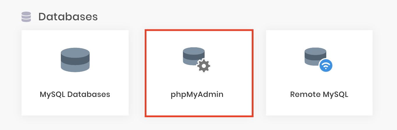 vào phpMyAdmin trong Hostinger để kiểm tra database