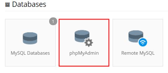 phpmyadmin trong hostinger