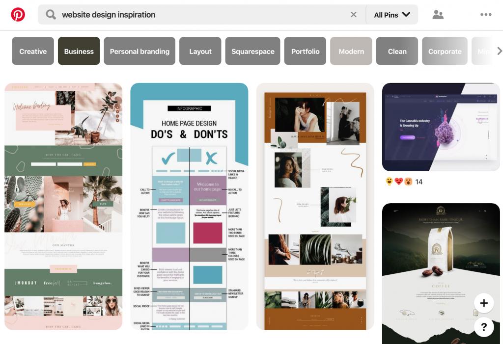 Pinterest, nơi tốt nhất để tìm cảm hứng thiết kế web