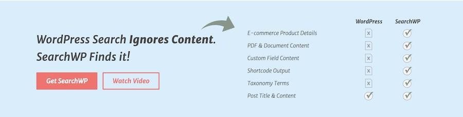 plugin search wordpress searchwp